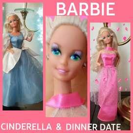 JUGUETE BARBIE CINDERELLA & DINNER DATE VESTIMENTAS