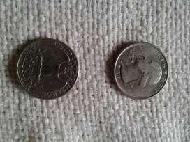 Monedas  EEUU quarter dollar (2 en total)