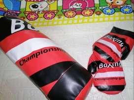 Set De Boxeo Niños Saco Y Guantes De 60cm