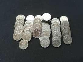 Monedas de 10 centavos  Colombia Indio Calarcá