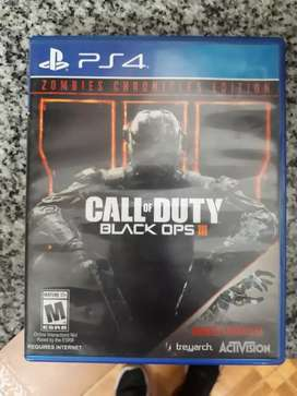 Juego PS4 CALL OF DUTY BLACK OPS III