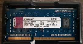 Memoria Ram 1 Gb KVR1333 S3S9 Kingston 1.5V