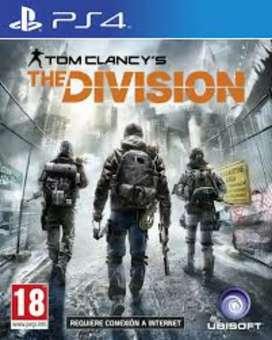 Vendo juegos de PS4 pes 20 the división 1 y doom vr a 1000 cada uno