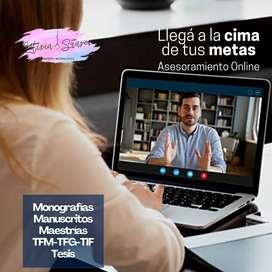 Tu ASESORAMIE sobre Tesis Asesoría Master Tesis Redactamos Corrección Metodología de investigación Elaboración Argentina