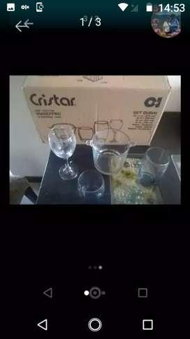 Set de vasos con hielera