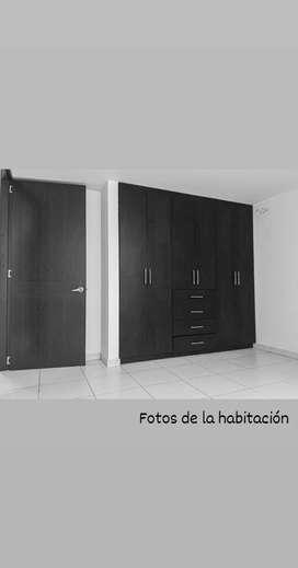 Se arrienda habitacion amplia, clarita y servicios incluidos para una sola persona.