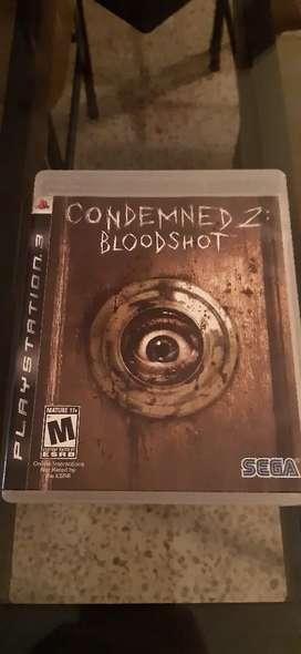 Ps3 vendo juegos condemned 2 bloodshot