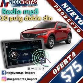 RADIO PARA CARRO 10 PULGADAS DOBLE DIN USB BLUETOOTH ADAPTACION A CAMARA DE RETRO CON GPS INTEGRADO