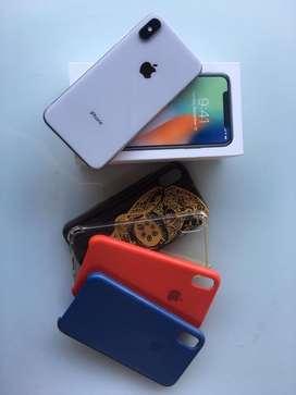 Iphone x 256Gb-RECIBO TARJETA - NEGOCIABLE-Bateria 88%-4 carcasas