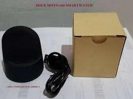 Dock estacion carga moto 360 reloj inteligente smartwatch cargador inalambrico wireless