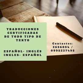 Traducciones de Textos