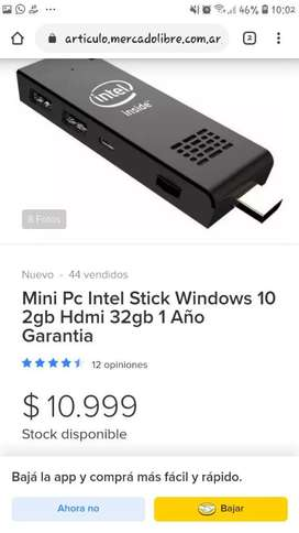 Mini Pc Intel Stick Portatil.