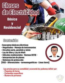 Se ofrece capacitación en Electricidad básica y residencial