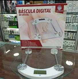 Balanza Bascula Digital Personas 180kg Vidrio Templado