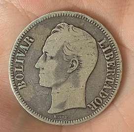 5 Bolivares 1886 lei 900