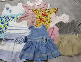 7 Vestidos de niña epk de 3 y 6 meses