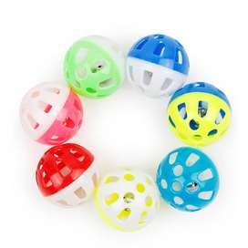 Juguete X4 Bolas Con Cascabel Colores Mascota Gato Pelota