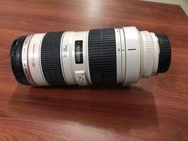 Lente canon 70-200 mm 2.8