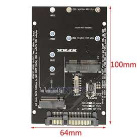 Adaptador NGFF MSATA SSD a SATA 3.0, tarjeta convertidora 2 en 1 para PC y portátil