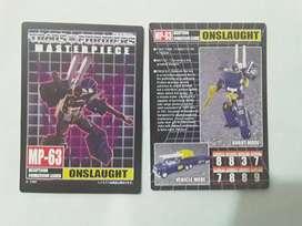 Cards Coleccionables Transformers Masterpiece Combaticons