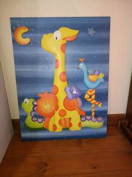 Remato Cuadro 3D infantil. 80 x 60 muy lindo