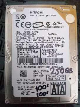 Disco duro de portátil de 250 gb