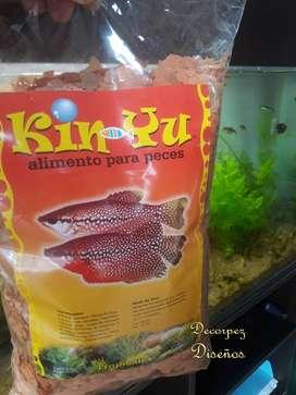 Alimento para peces en escamas x500 GR tropical o de agua fría