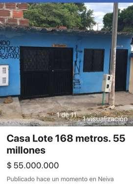 Vendo Casa Lote Neiva