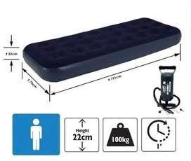 Colchon inflable, cama de 1 plaza con inflador nuevo.