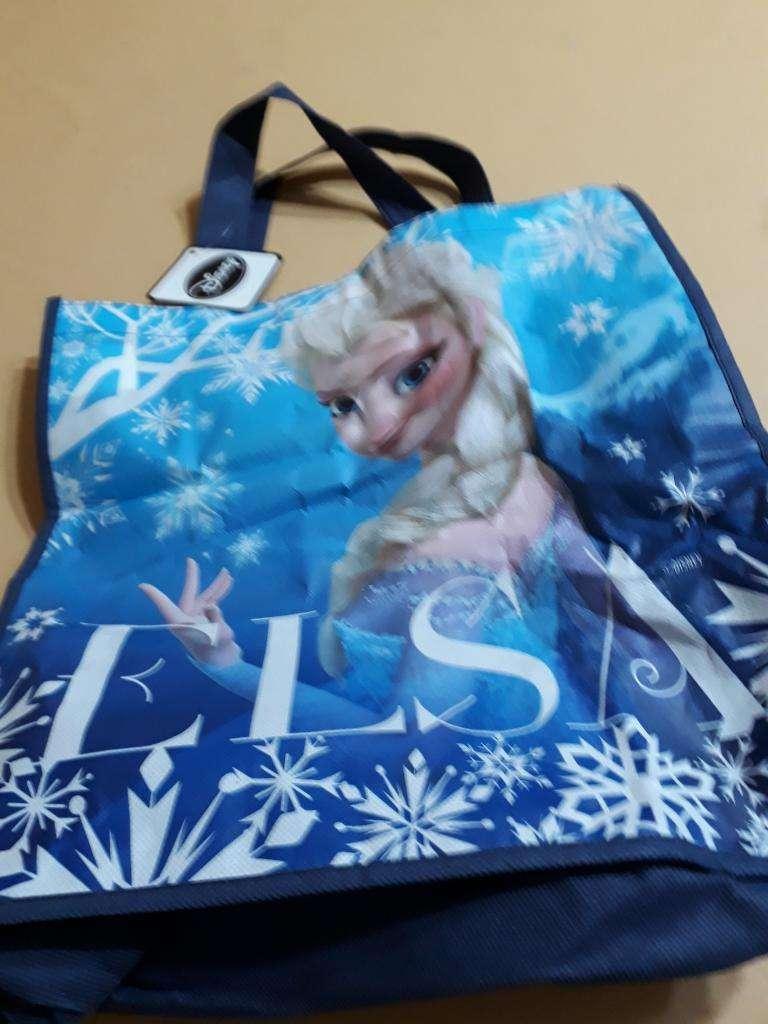 Bolso Elsa Original Disney mide 36cm x 36cm 0