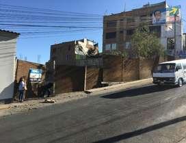Venta de terreno frente a calle principal, Cayma