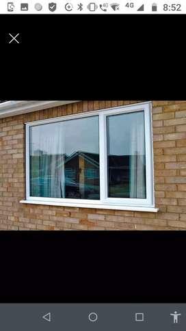 Ventanas, divisiones,vitrinas,techos PVC,aceros