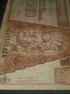 Billete de Guatemala.