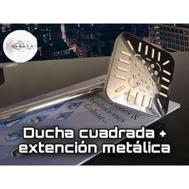 DUCHA CUADRADA + EXTENCION METALICA