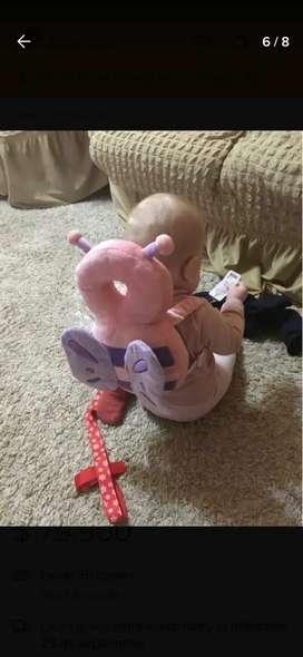 Se vende Almada mariposa protectora para bebé cabeza y espalda , cojín elefante para sentar al bebé