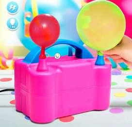 Inflador de globos eléctrico automático doble Boquilla envió gratis