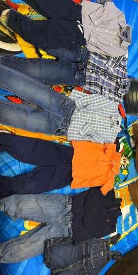 Lote de ropa americana para niño 2 años
