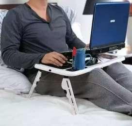 Mesa Para Laptop, Notebook Plegable, ventilador y Accesorios