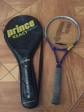 raqueta de tenis prince react titanium
