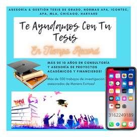Gestión De Tesis De Grado Normas Apa, Icontec, MLA, Chicago, Harvard - Trabajos De Grado - Maestrías - Doctorados