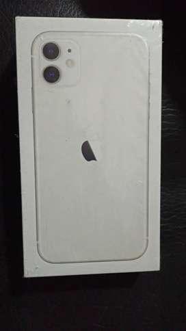 IPHONE 11 DE 128GB ( BLANCO)  NUEVO Y SELLADO