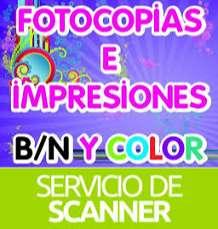 FOTOCOPIAS, IMPRESIONES  Y ESCANER.