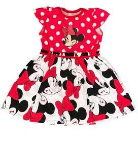 """Vestido para niñas dibujos animados """"Minie"""" de 2 a 6 años"""