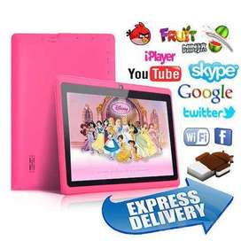 TABLET 7 PULG ANDROID DOBLE CAMARA JUEGOS DIVERTIDOS RAM 1 GB ROM 8 GB