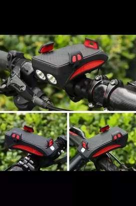 Luz para bicicleta multifunción 4 en 1