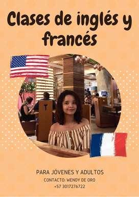 Clases y refuerzos de inglés y francés