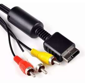 Cable RCA nuevos audio y video para ps1 PS2 o PS3 delivery costo adicional