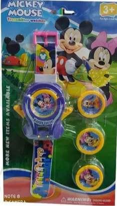 Reloj Para Niños Lanza Tazos- Mickey Mouse + Obsequio