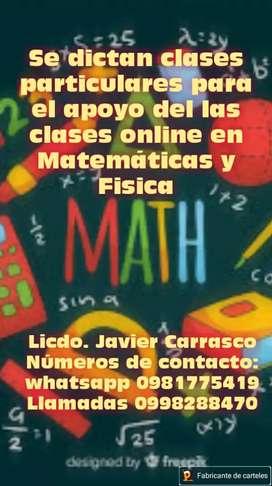 Clases particulares en matemática y física