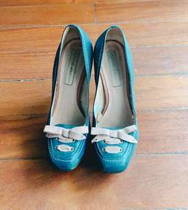 My Closet Sale: Zapatos de tacón Azul Naval T.38 pie ancho